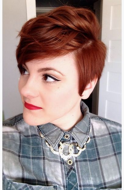 This short pixie cut is both feminine and chic!
