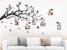 Mit dem Wandtattoo Zweifarbiger Baum mit Fotorahmen und Spruch kannst Du Deine Wand kreativ gestalten.