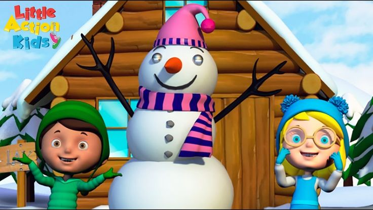 """I'm a little snowman round and fat! I've a woolen scarf and a little bobble hat, when the snow is falling you will hear me say """"come and make a snowman, we'll have a FUN day"""" Join in with the Little action kids as they sing and dance along to this popular kids Christmas song.  Subscribe now for more fun kids songs"""