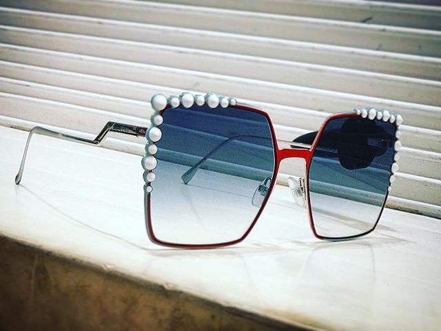 Are oversized sunglasses still in fashion . they are!!! you dont need to go look for the right frame for your style and face  this #oversized Square studded #Fendi Can Eye  sunglasses is .. and sure it will will suit you  #Studded #Oversized #Square #Sunglasses #woman #fashion #style
