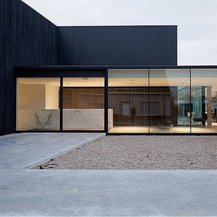 Minimalist black and glass exterior