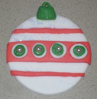 Christmas Bauble Cupcake Topper
