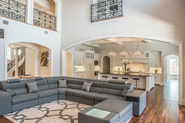 Transitional Family Home - transitional - Living Room - Dallas - Platinum Series by Mark Molthan