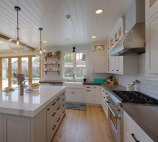 Quartz Kitchen Island Ideas: Kitchen Perimeter And Island Countertop Combination Ideas