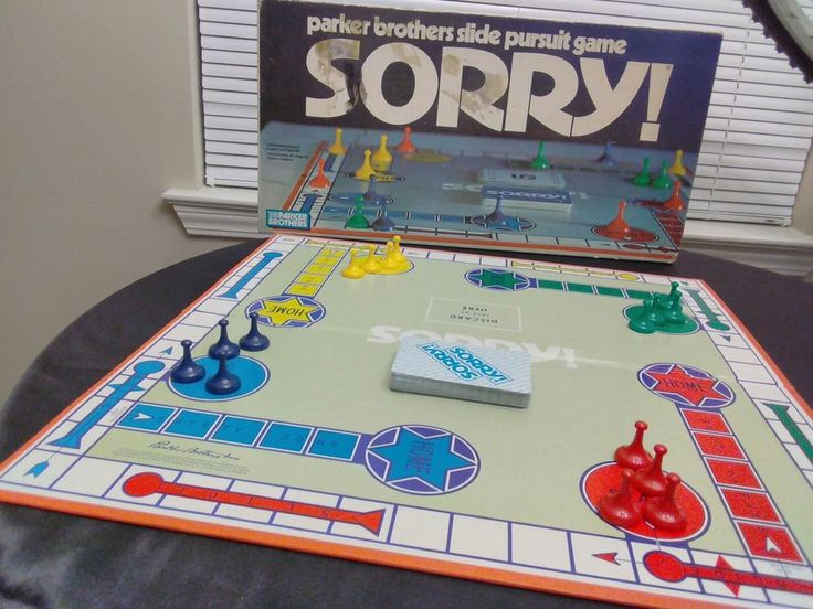 Vintage 1972  SORRY BOARD GAME PARKER BROTHER     #ParkerBrothers