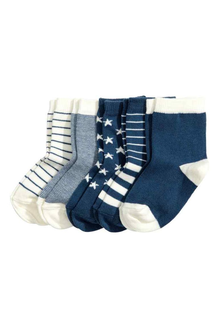 5-pack socks - Dark blue | H&M £4