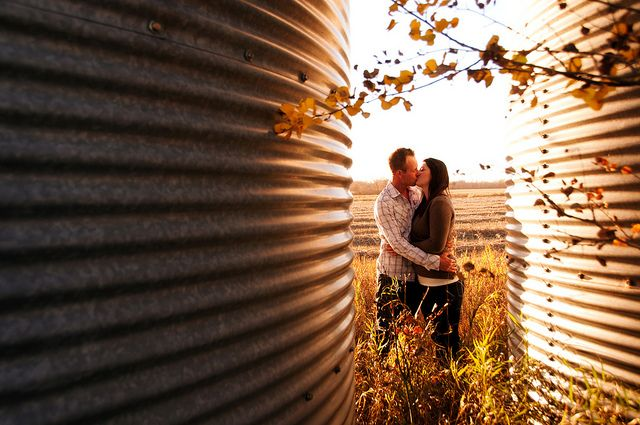 country engagement photos - change into wedding photo