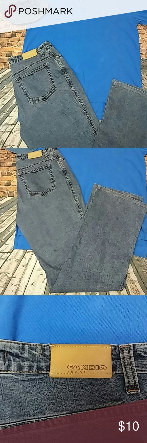 Cambio Jeans Size 10 Very nice medium-light wash jeans Cambio Jeans Straight Leg