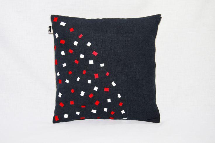 Dark Blue Linen Pillow Cover