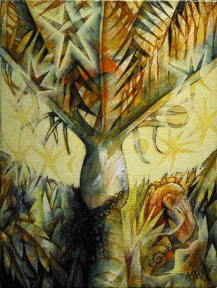 Herb Foley NZ Artist - palm and snail 1.