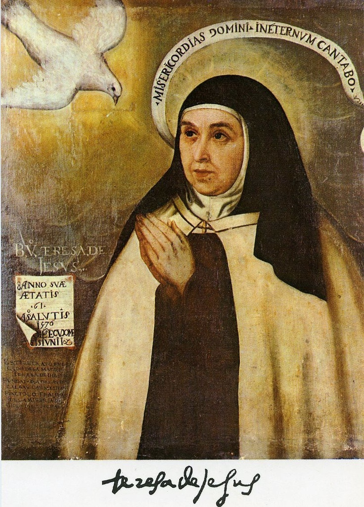sappho and st teresa de avila St teresa of avila (born 28th march 1515 – died 4th october 1582) teresa of ávila also called saint teresa of jesus, baptized as teresa sánchez de cepeda y ahumada (28 march 1515 – 4 october 1582), was a prominent spanish mystic, roman catholic saint, carmelite nun, author during the counter reformation, and theologian of contemplative .