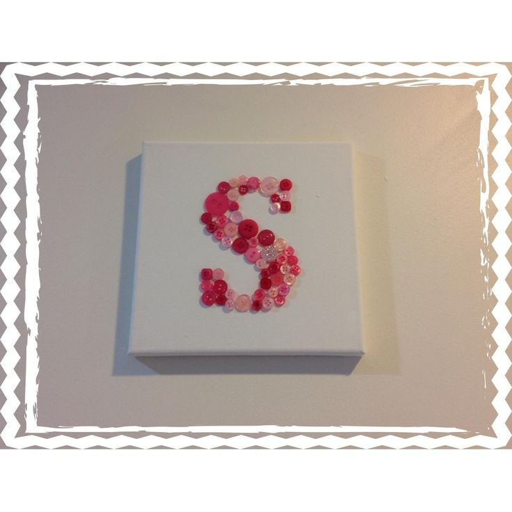 $15 Personalised Childrens Button Initial Wall Art by IsabelleMaryCreations on Handmade Australia