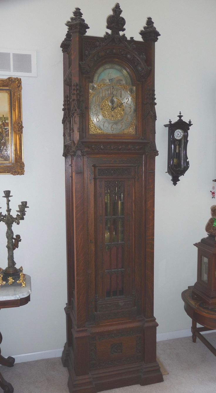 Waltham Gothic Grandfather Clock At Antique Clock.com