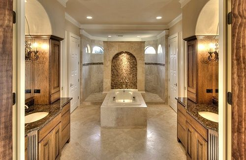 Walk through shower master bathroom love the windows in for Walk through shower pros and cons