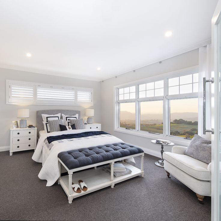 Hamptons Inspired Luxury Home Master Bedroom Robeson: The Luxurious Light-filled Master Suite In The Saxonvale