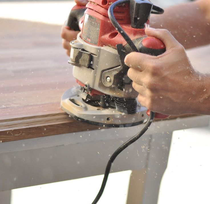 Routing an edging into kitchen and bathroom ikea butcher block countertops
