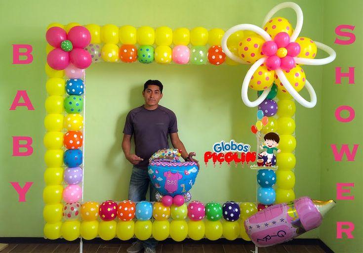 663 best images about decoracion con globos on pinterest - Decoracion de marcos para fotos ...