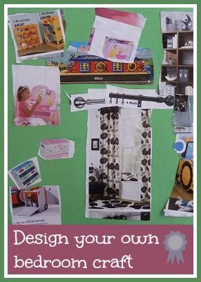 Design your own bedroom craft - a really fun craft for little ones that gives you an insight into their little minds!
