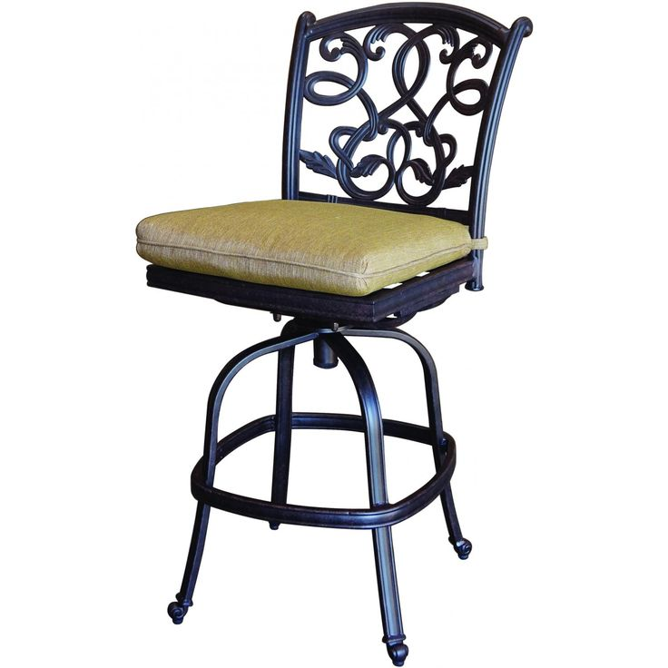Darlee Santa Monica Cast Aluminum Armless Counter Height Patio Bar Stool :  Ultimate Patio