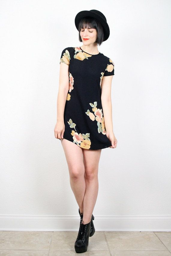 Vintage 90s Dress Mini Dress Grunge Dress by ShopTwitchVintage