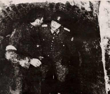 Lublin, Poland, A  hiding Jew discovered by the German police during a search, 1940.