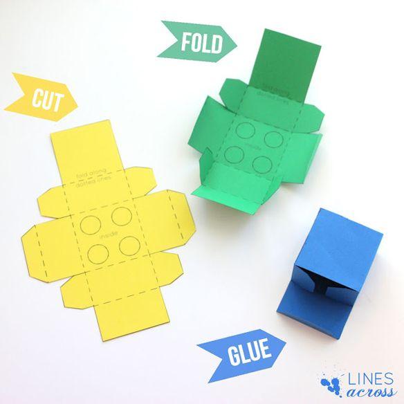 DIY – papieren LEGO doosjes vouwen