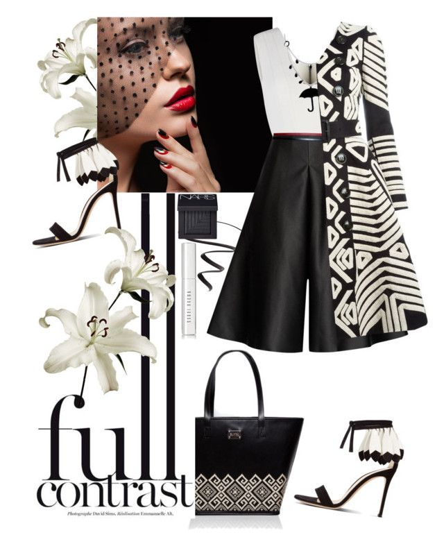 full contrast by iraavalon on Polyvore featuring polyvore fashion style BCBGMAXAZRIA Burberry Solace Hermès NARS Cosmetics Bobbi Brown Cosmetics L'Oréal Paris clothing romanian