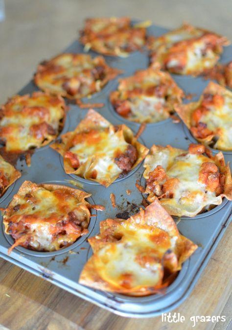 Lasagna bites.