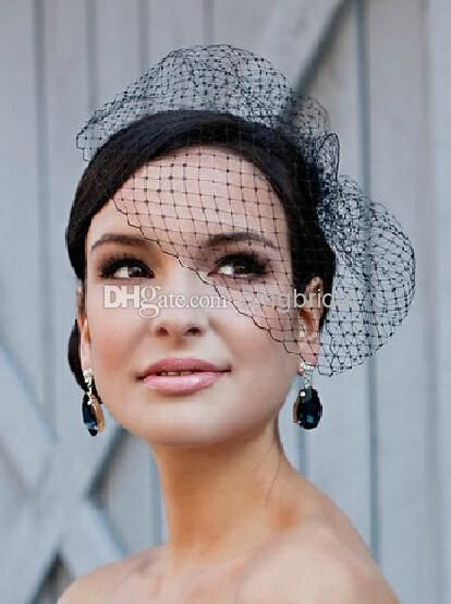 New Vintage Black Net Birdcage Veil Bridal Hats Headwear Wedding Headpiece Hair Accessory Wedding Hat Hats And Fascinators From Bingbridal, $16.76| Dhgate.Com