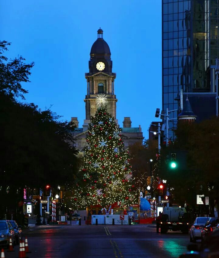 Fort Worth Texas at Christmas.