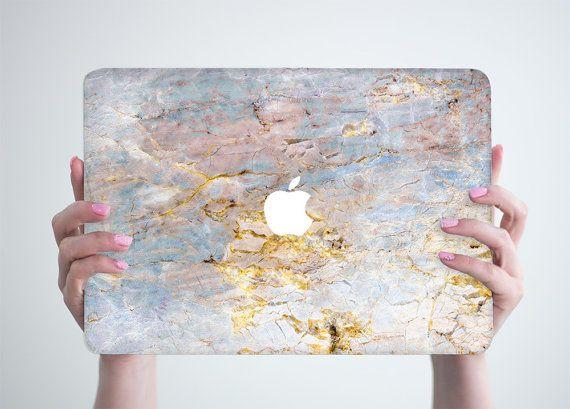 White Marble Laptop Marble Case Hard Shell for by RealDesignRocks