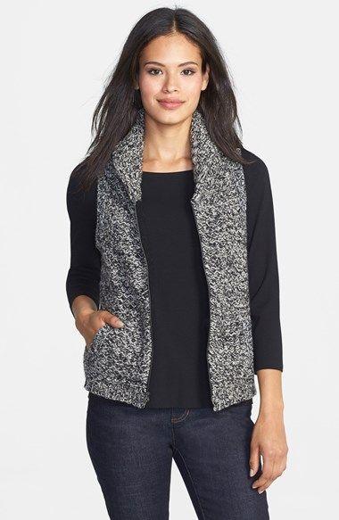 Eileen Fisher Merino & Yak Wool Sweater Vest (Regular & Petite)