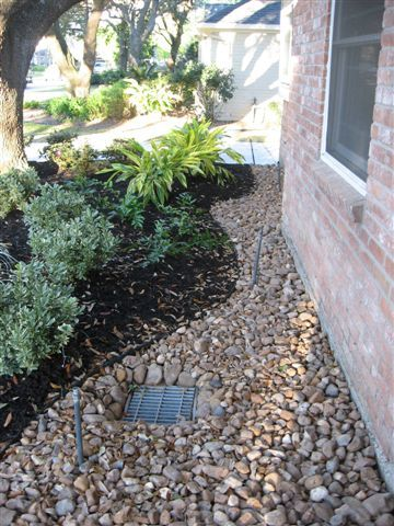 Houston TX Landscape Retaining Walls, Houston TX Drainage Catch Basin