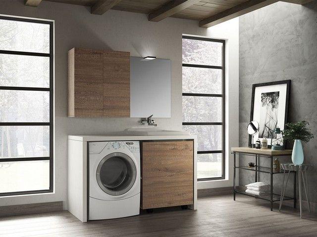 Qubo lavanderia composizione mobili bagno componibili qubo