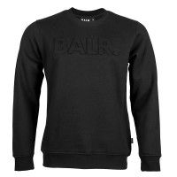 Embossed Crew Neck Black - BALR.