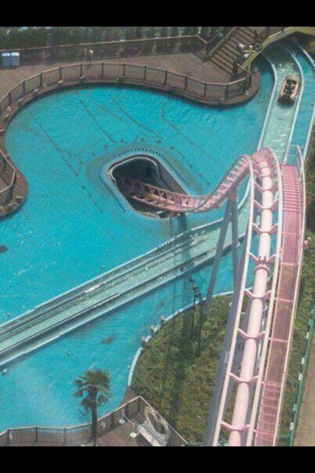 Underwater Roller Coaster In Yokohama Japan Scary Roller