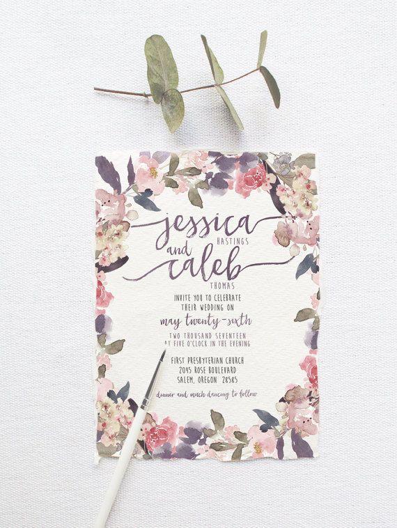 Romantic Garden Wedding Invitation Suite DEPOSIT von SplashOfSilver