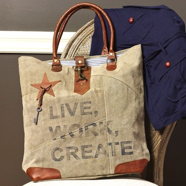Live Work Create Canvas Tote Bag