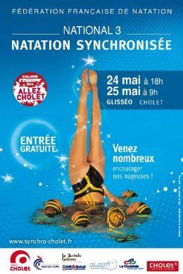 Natation synchronisée Championnat de France N3. Du 24 au 25 mai 2014 à Cholet.