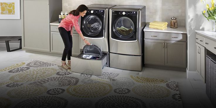 Now you can wash the small loads that just can't wait in the compact washer below while you do a bigger load up top. The time-saving @lgusa Sidekick™ can be used on its own or at the same time as the front load washer above.