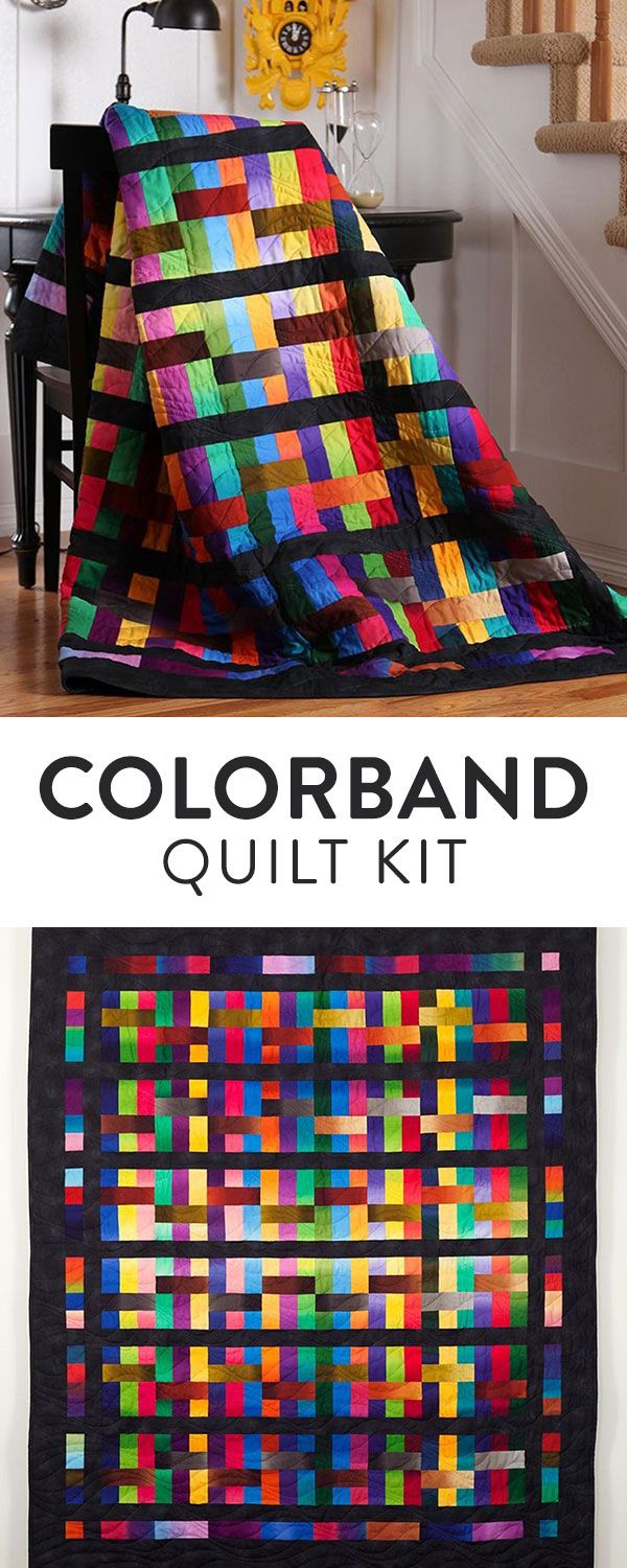 Immerse yourself in gorgeous hues with the captivating Colorband quilt kit from Benartex! You'll receive a striking pattern and fabric from the lush Gradations collection, featuring a radiant palette with a unique dip-dye effect.