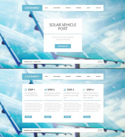 Alternative Power website inspirations at your coffee break? Browse for more JavaScript Based #templates! // Regular price: $67 // Sources available: .HTML,  .PSD #Alternative Power #JavaScript Based