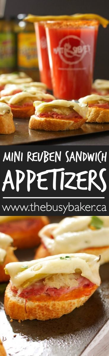 The Busy Baker: Mini Reuben Sandwich Appetizers (and GIVEAWAY!)