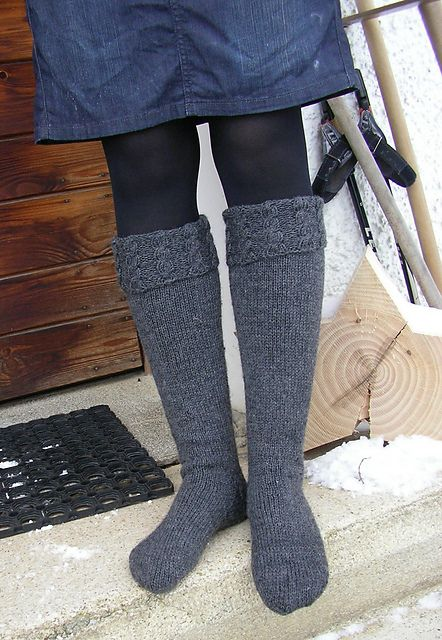 Ravelry: Project Gallery for Cold Swedish Winter Welly Socks pattern by George White