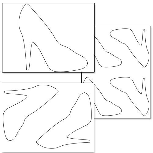 Printable high heel shoe template from for How to make paper shoes templates