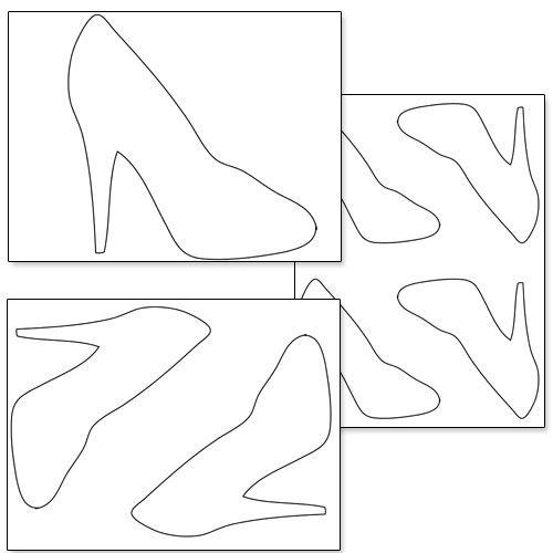 printable high heel shoe template from printabletreats