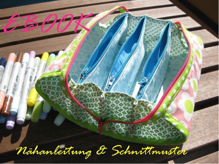 Nähanleitungen Taschen - Nähanleitung Zippy Fächertasche EBOOK m. 7 Fächer - ein Designerstück von Universia bei DaWanda