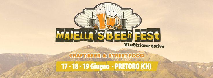 Musica, street food ma soprattutto Ottima #Birra Artigianale al Majella Beer #Fest. Tre giorni di Happy Hour in cui potrete gustare questo straordinario prodotto e visitare il Birrificio #Maiella, partner ufficiale di B & B Casa Mila'.
