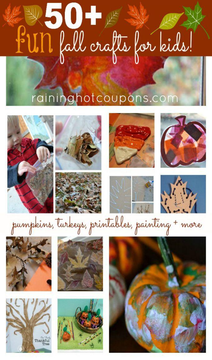 50 Fun Fall Crafts for Kids!
