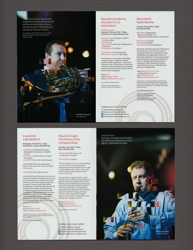 LONDON SINFONIETTA 2013 - Harrison Agency